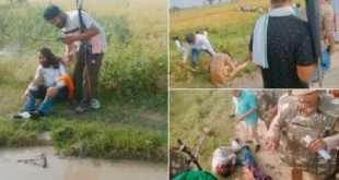 उत्तर प्रदेशात आंदोलनकर्त्या शेतकऱ्यांना मंत्र्यांच्या ताफ्यातील वाहनाने चिरडले